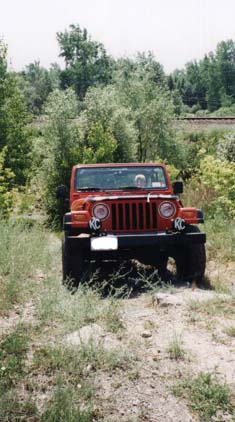 Jeep on a path